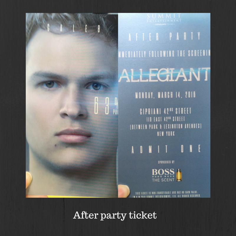 After party ticket