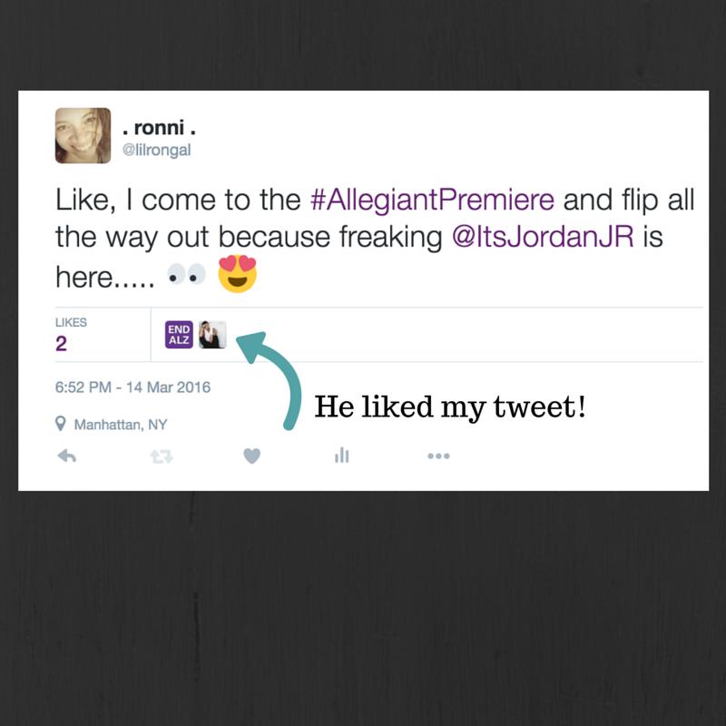 He liked my tweet!